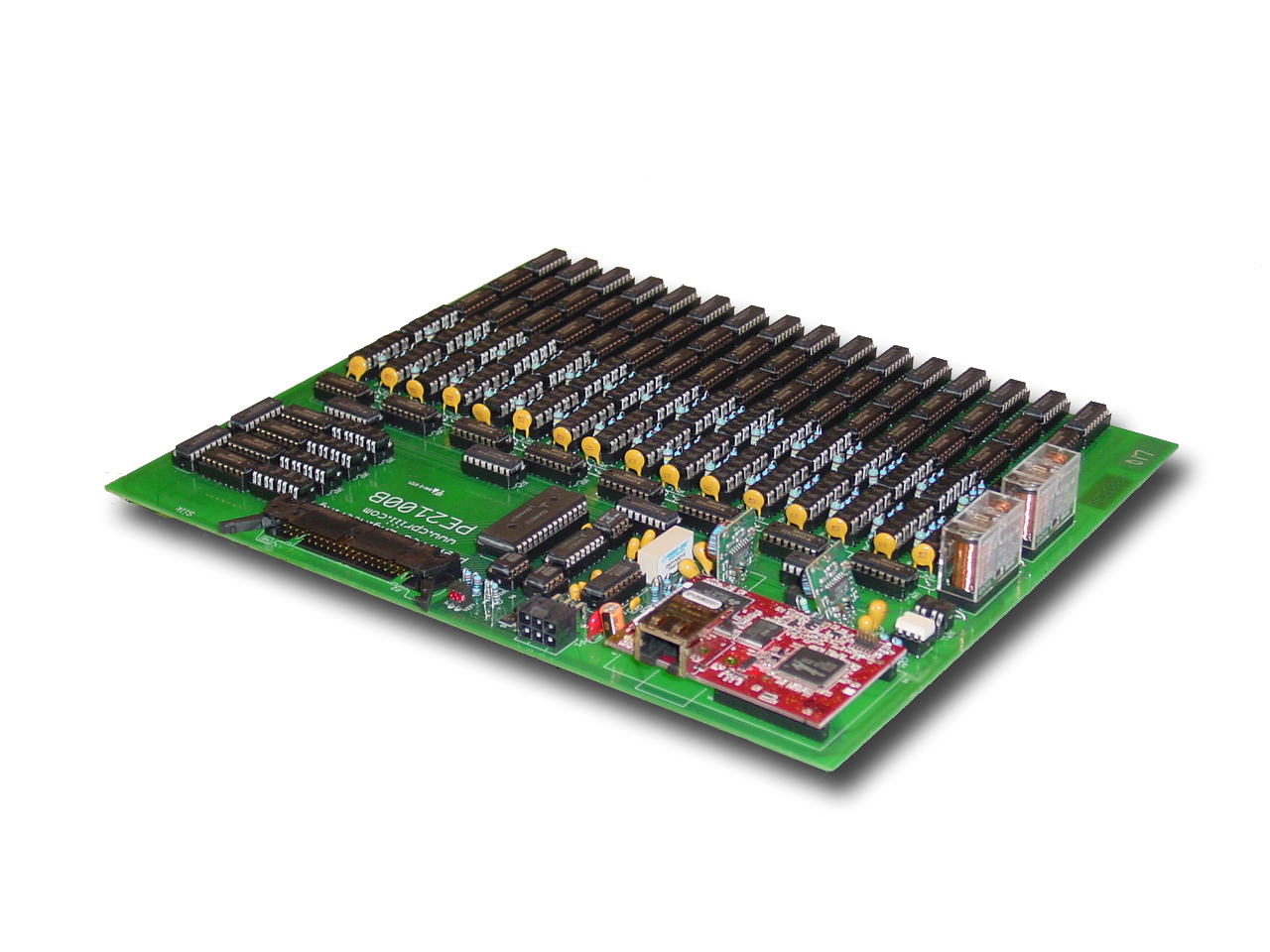 Preferred Engineering Computer Technology Circuit Board With Multiple Electronic Components Pe2100b Pe2102c